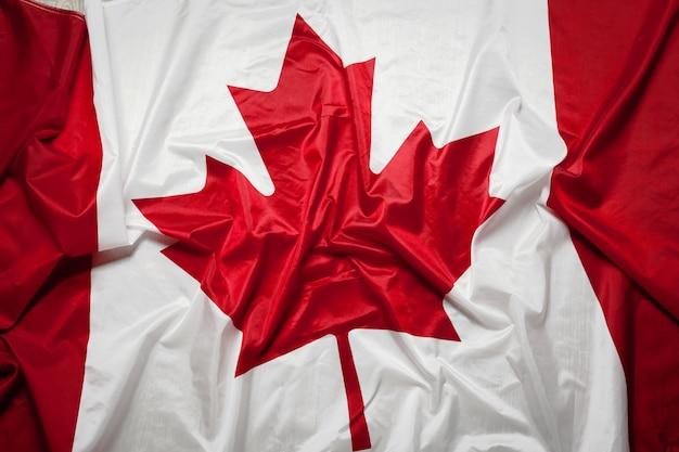 Creased canada flag
