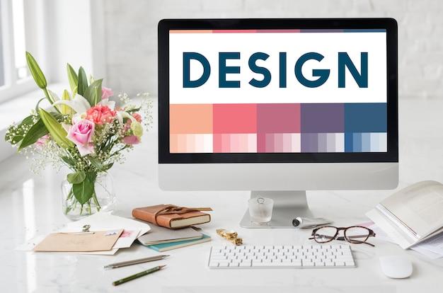 創造性のアイデアのデザインコンセプトを作成する