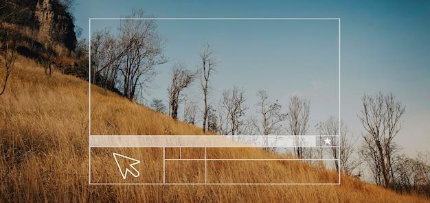 Create website layout blank banner