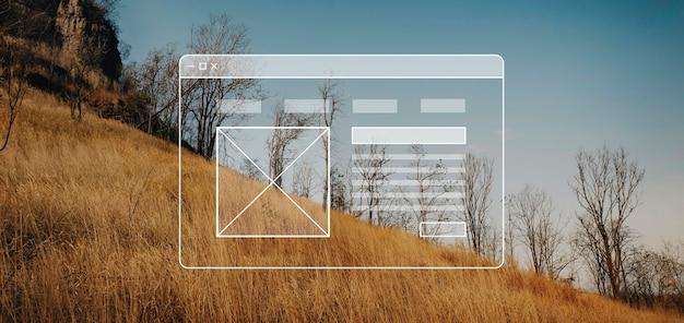 Crea un banner vuoto per il layout del sito web