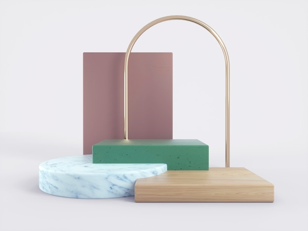 Creative 3d podium for your product.