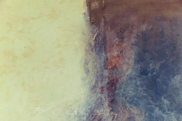 創造的な抽象的な塗られた背景、大理石のテクスチャ、壁紙、テクスチャ、壁にアクリル絵の具。現代美術現代美術現代美術。芸術的な壁のペンキ。