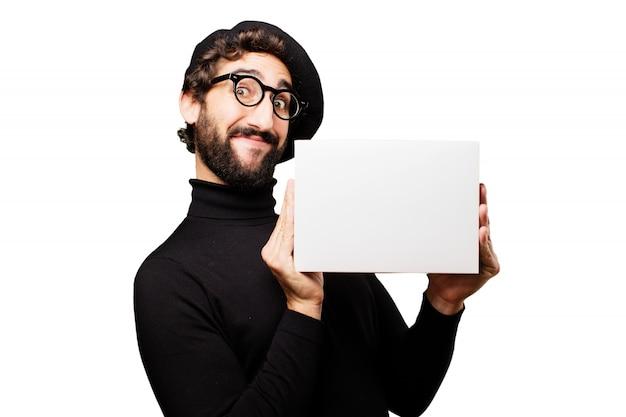 Creativo adulto espressione quadro maschio