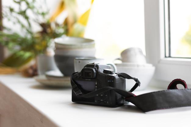 Creative arrangement for kitchenware photography