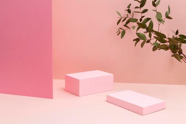 Disposizione creativa del palcoscenico minimalista