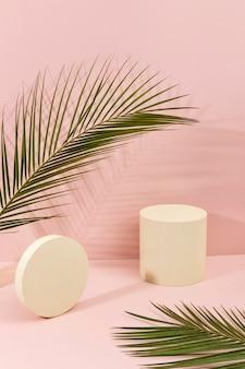 Creative assortment of minimalist stage