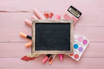 Creative back to school concept with slate