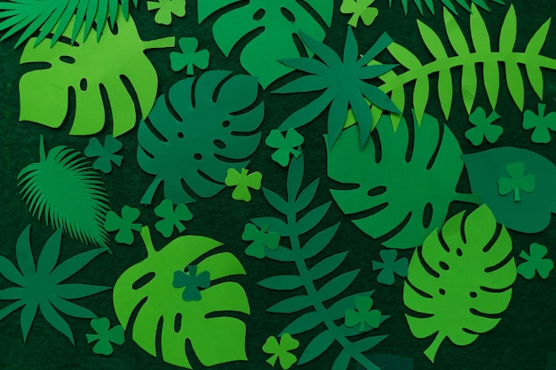 Творческий фон из тропических листьев