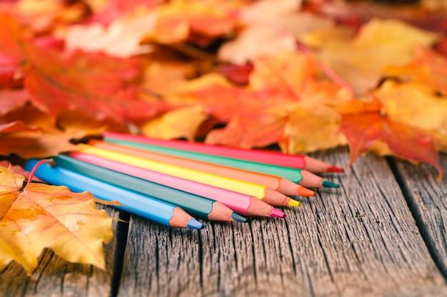Творческий фон с кленовыми листьями