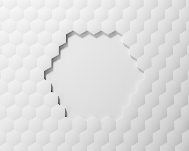 Creative background with white shapes