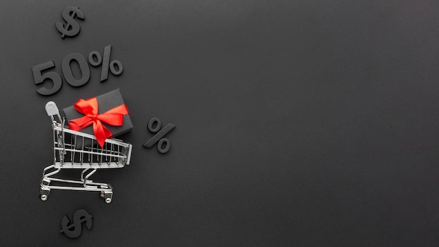 Creative black friday composition with copy space