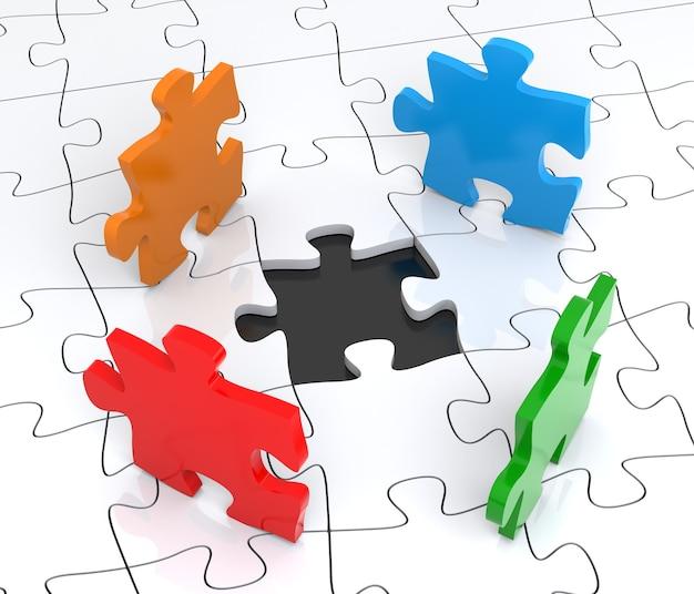 크리에이 티브 비즈니스 사무실 팀워크 파트너십 및 커뮤니케이션 기업 개념