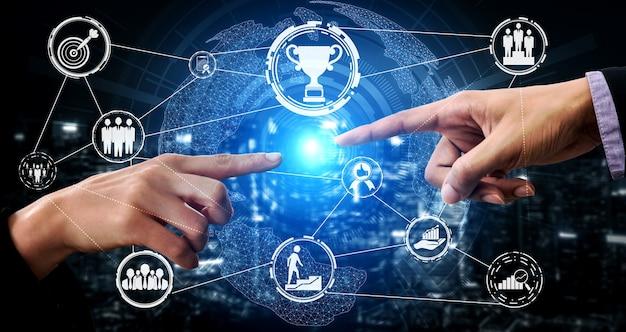 창의적인 비즈니스 사람들 성취 및 비즈니스 목표 성공 개념.