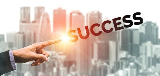 創造的なビジネス人々の達成とビジネス目標の成功の概念。