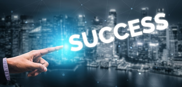 Creative business people achievement and business goal success concept.