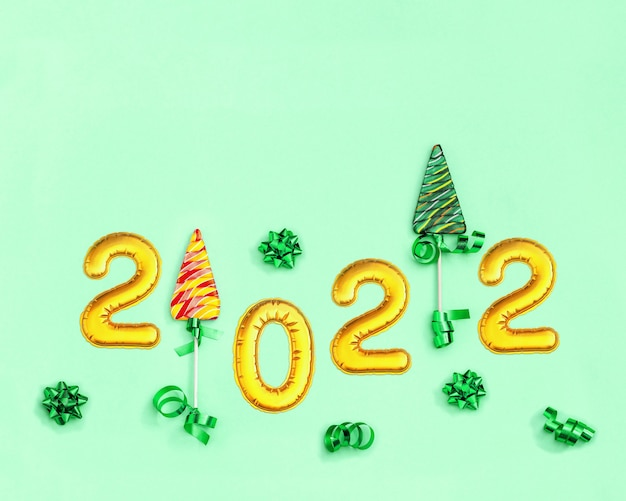 Creative colorful candy for new year holiday background