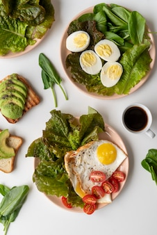 Creative composition of delicious breakfast meal
