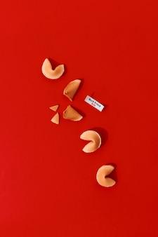 빨간색에 검은 금요일 쇼핑 판매 포춘 쿠키를 위한 창의적인 구성