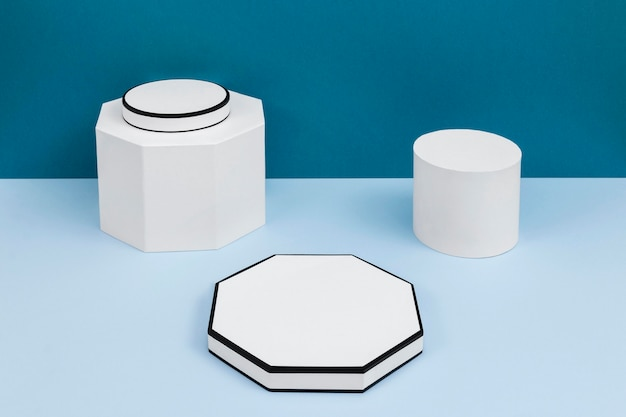 Creative composition of minimalist podium