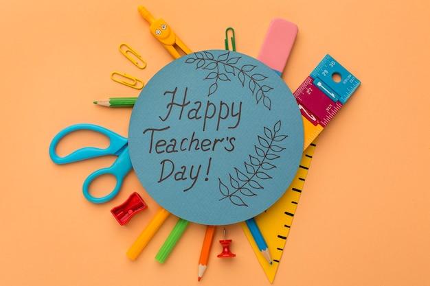 教師の日の要素の創造的な構成