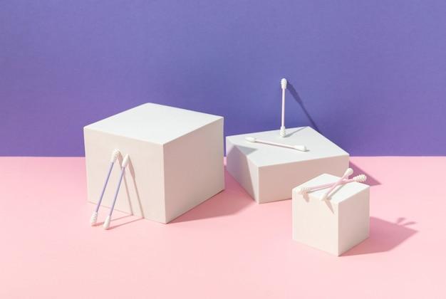 再利用可能なシリコン綿棒と表彰台を備えたクリエイティブな構成