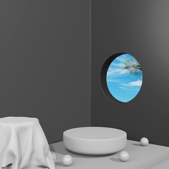 Креативная концепция 3d подиумной сцены для презентации продукта