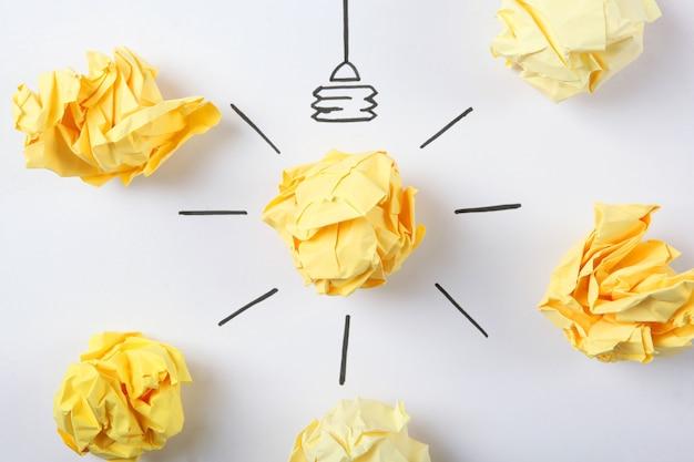 Креативная концепция идея новая идея крупным планом