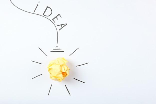 창의적인 개념 아이디어 새로운 아이디어 근접 촬영