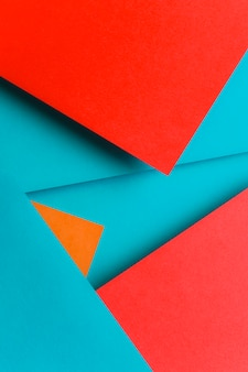 Creative design for blue; red and an orange wallpaper