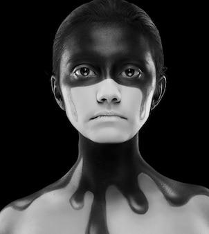 Creative face-art close up
