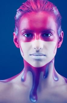 Creative face art painting