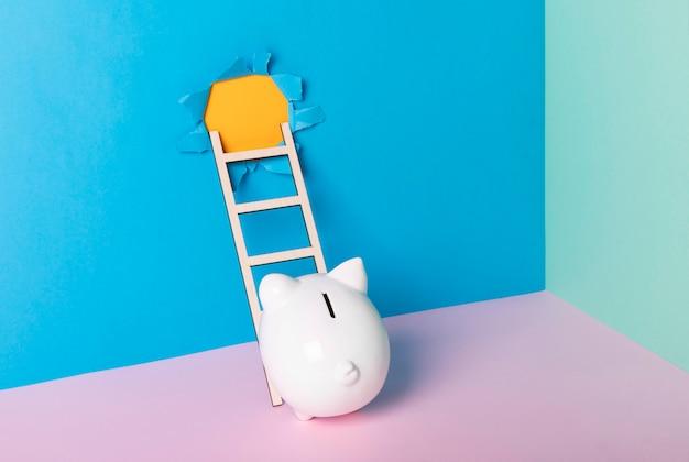 Composizione di natura morta di libertà finanziaria creativa