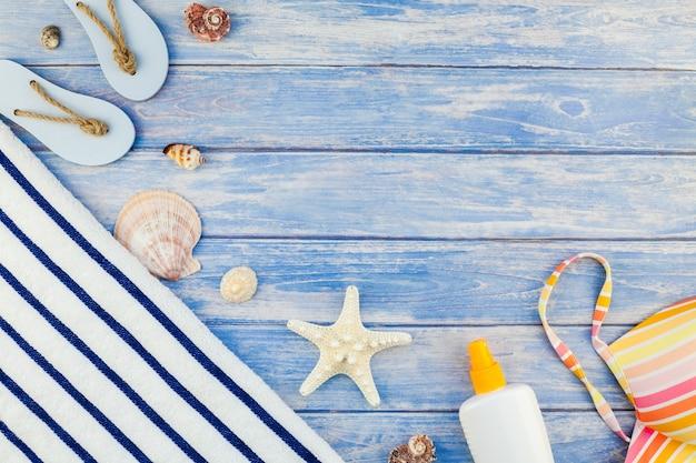 Креативная концепция плоской планировки летних путешествий