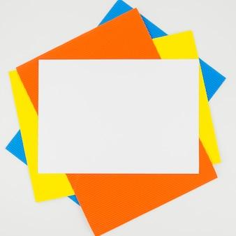 Creative flat lay paper mockup