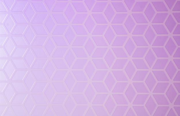 Креативный геометрический фон из форм ромба с фиолетово-сиреневым градиентом.