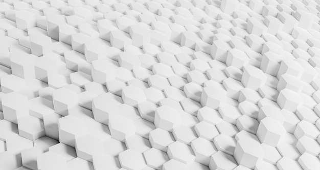 Creative geometrical background with white hexagons