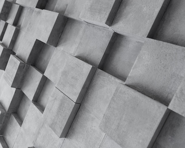 Creative gray surface with squares