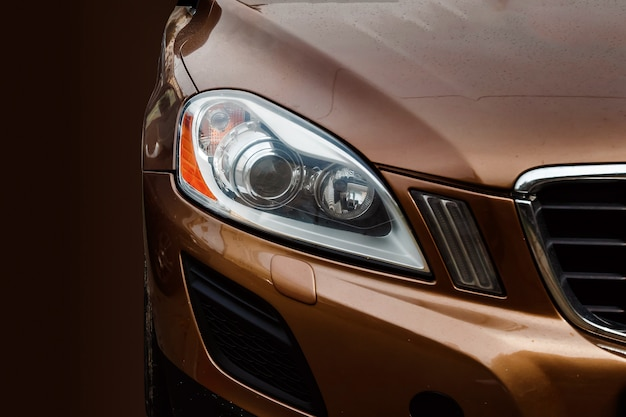 Creative, high-beam headlight of the newest car