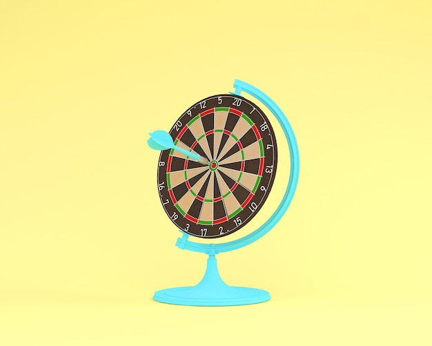 Creative idea of globe sphere orb darts board