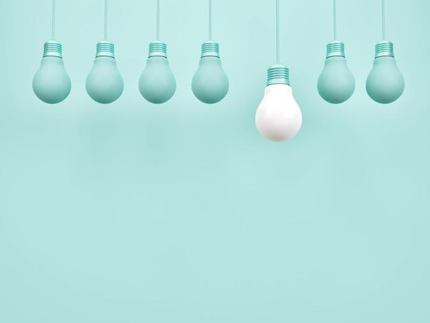 창의적인 아이디어 전구 기호