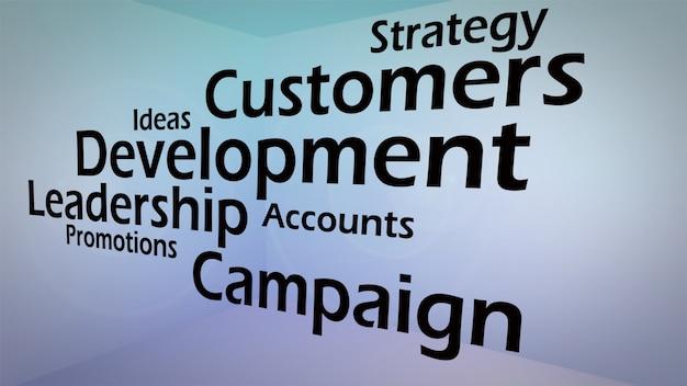 ビジネス開発コンセプトの創造的イメージ