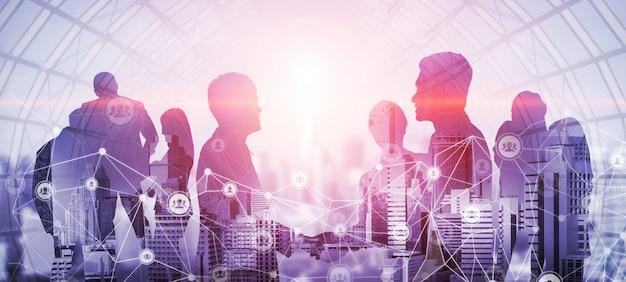 Творческий образ встречи деловых людей конференции группы