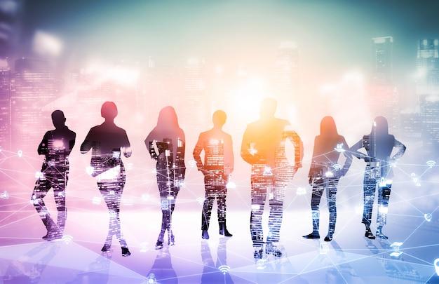 多くのビジネスマン会議グループ会議のクリエイティブなイメージ