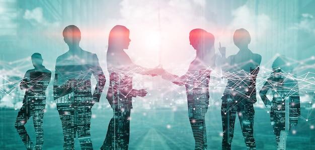 Творческий образ встречи многих деловых людей конференц-группы