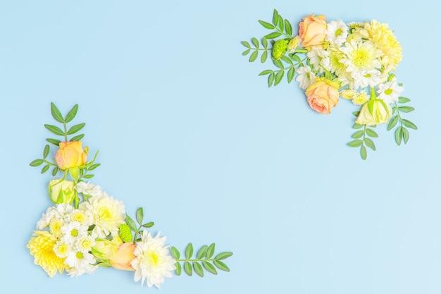 Креативный макет композиции из цветов