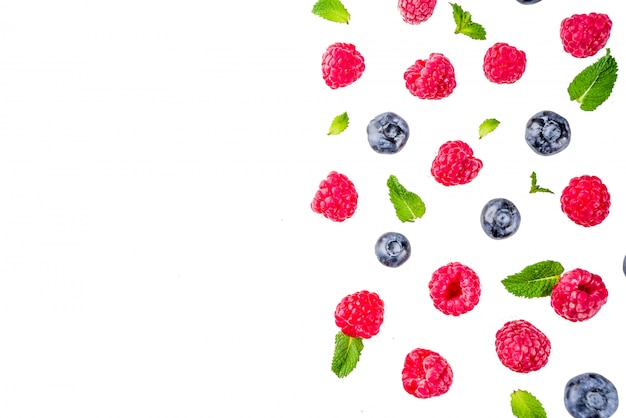 Creative layout with berries