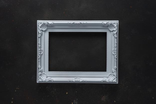 검은 배경에 흰색 프레임 크리 에이 티브 레이아웃입니다.
