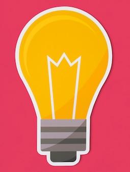 Icona creativa della lampadina isolata