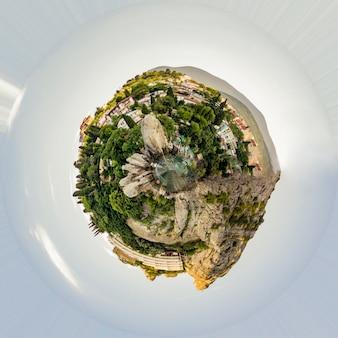 Creative of mini planet earth landscape
