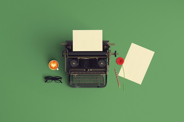 Creative mock up vintage color tone paper